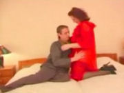 Horny mature wife cheating her husband with a young boy!
