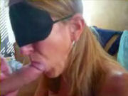 Masked amateur wife sucking the dick of her husband!