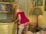 Blonde mature woman stripping and dancing!