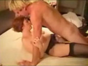 Mature woman gets fucked by a young blond boy!