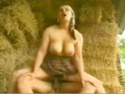 Farmers wife getting fucked in a haystack by a young boy!