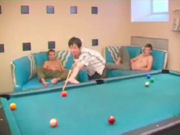 Hot mature woman getting fucked by two young boys in a poolcenter!
