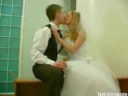 Just married couple seducing their bestman for threesome sex!