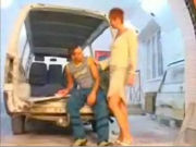 Mature housewive seducing the boy next door who's repairing her car!
