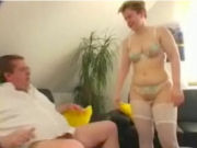 Naugthy housewive with glasses seducing and fucking father in law!