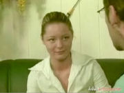Young student getting punished by older teacher for being horny!