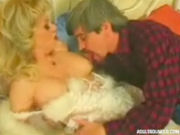Granny gets her nipples licked to make her horny, then her pussy gets licked and rammed!