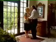Granny visiting an old rich friend and starts seducing him immediately!