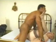 Granny with glasses fucked hard by a big black guy!