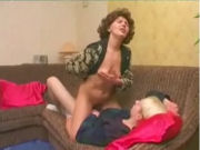 Hot MILF riding on a young boys cock...!