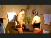 Mature Spa cleaning lady getting seduced to share a bath with a muscular visitor...!