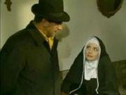 Naughty nun seducing a priest...!