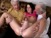 Two old perverts and a young slut
