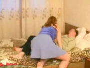 Mature hospita sneaks in the room of her young renter to surprise him