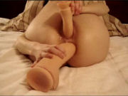 Extreme DILDO girl takes munster dildos in all holes