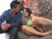 Teen seducing her daddys best friend