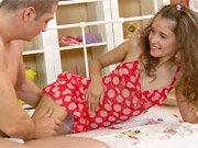 Girl lured into the appartment of the man next door