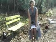 Amateur wife goes wild when fucking outdoors