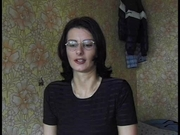 Housewife with glasses in stolen homevideo